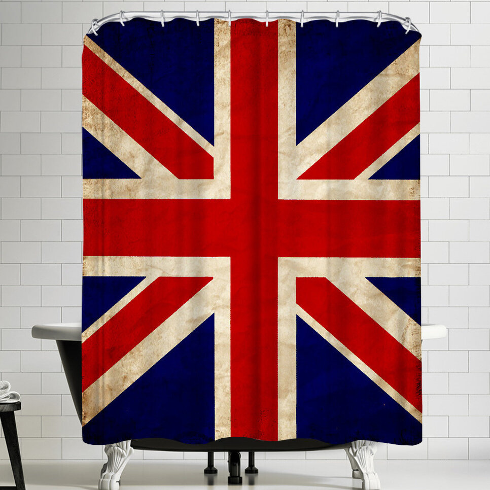 East Urban Home Wonderful Dream United Kingdom Flag Single Shower Curtain Wayfair