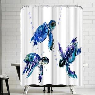 Suren Nersisyan Three Sea Turtles Single Shower Curtain
