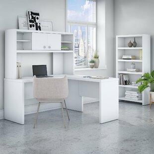 Echo 3 Piece L-Shaped Desk Office Suite by Kathy Ireland Office by Bush