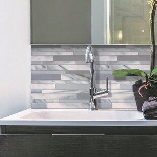 Milano 24 46cm X 29 34cm L Stick Mosaic Tile In Grey Silver