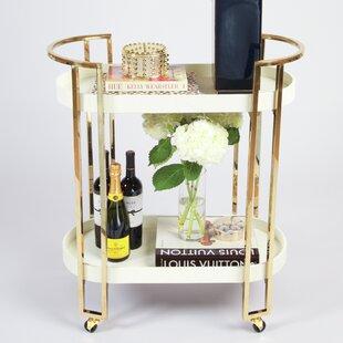 Shultz Oval Bar Cart