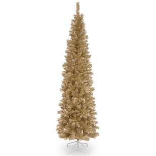 champagne gold 7 fir artificial christmas tree with metal stand - Gold Christmas
