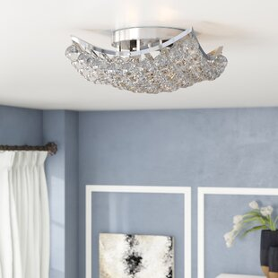 Kasha 4-Light Semi Flush Mount by Willa Arlo Interiors