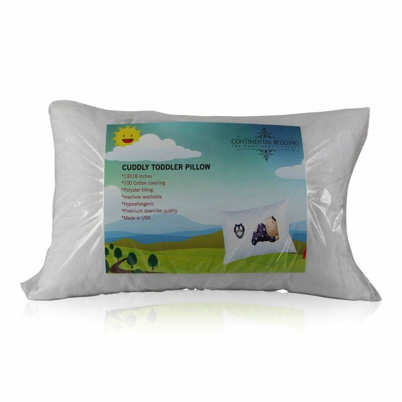 Soft Toddler Pillow by Continental Bedding