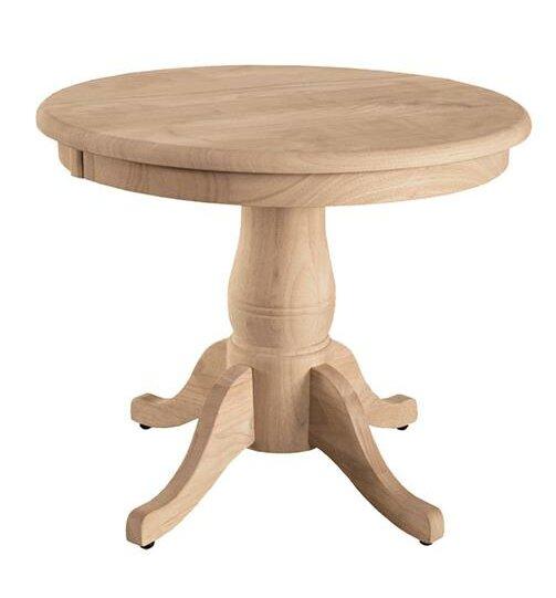 Charmant Pedestal End Table