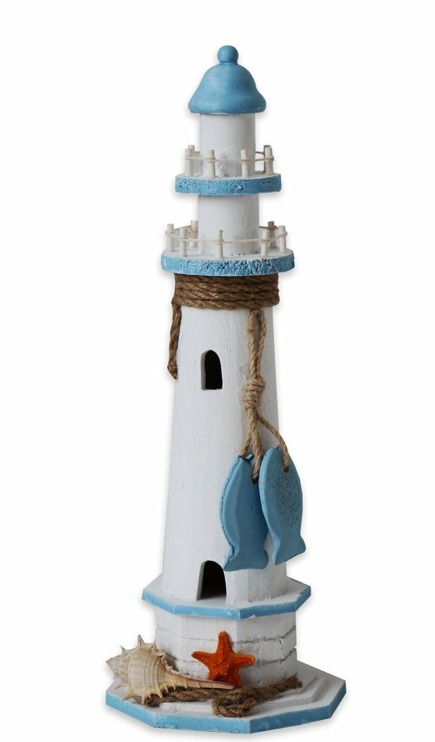 Nautical Wooden Lighthouse Sea Theme Sculpture Home Living Room Decor Crafts