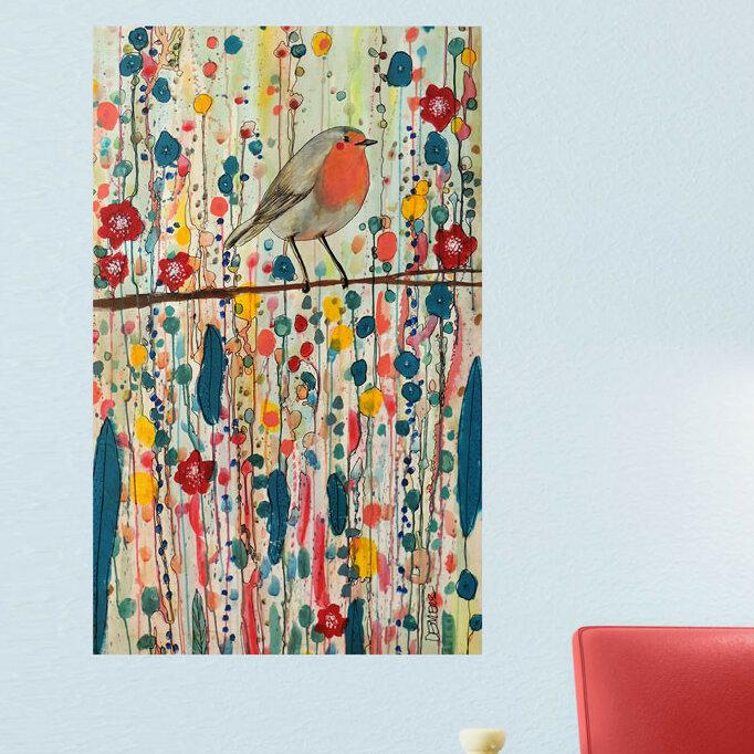 My Wonderful Walls Bird On A Branch By Sylvie Demers Wall Decal Wayfair