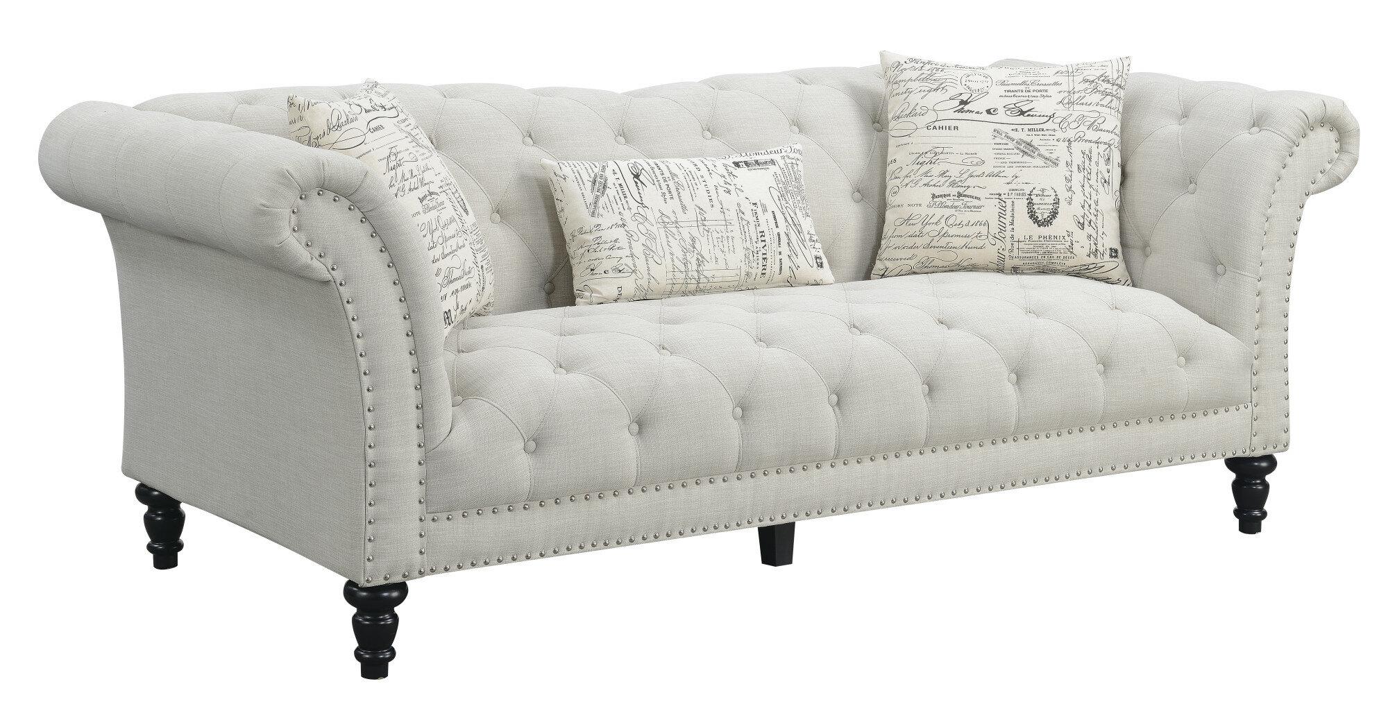 Lark Manor Versailles Chesterfield Sofa & Reviews   Wayfair
