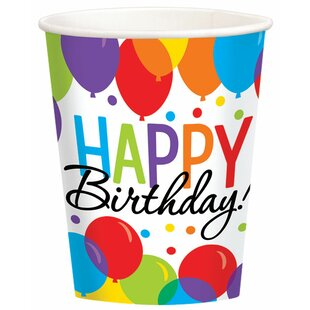 Balloon Bash Paper Disposable Every Day Cup (Set of 100)