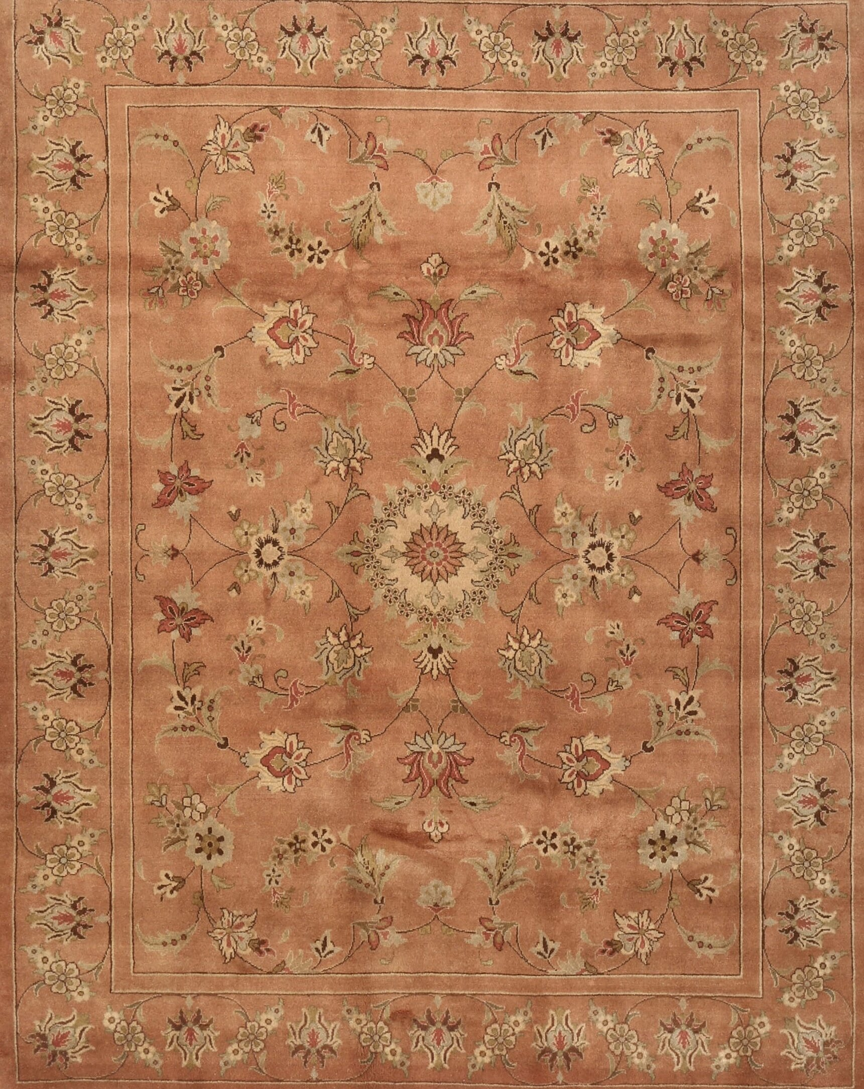 East Urban Home Contemporary Brown Red Green Area Rug Wayfair