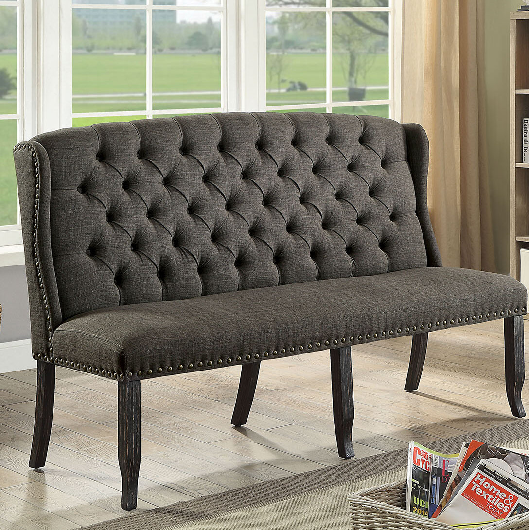Magnificent Otero Tufted High Back 3 Seater Love Seat Upholstered Bench Pabps2019 Chair Design Images Pabps2019Com
