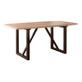 Clogh Trestle Dining Table Gracie Oaks