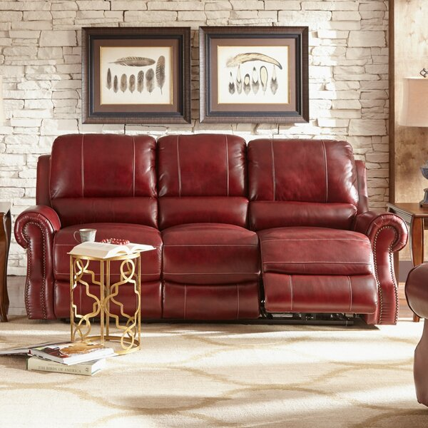 & Red Barrel Studio Crete Leather Reclining Sofa u0026 Reviews | Wayfair islam-shia.org