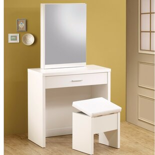 Latitude Run Kalsow 2 Piece Vanity Set with Hidden Mirror