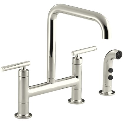 Luxury Polished Nickel Kitchen Faucets | Perigold
