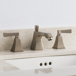 Maykke Severo 3 Piece Widespread Wrist Blade Bathroom Faucet Set