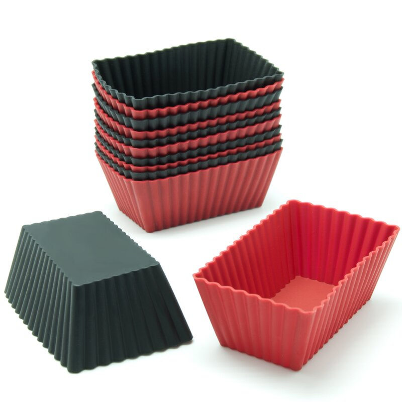 Freshware Silicone Mini Rectangle Reusable Cupcake And Muffin Baking Cup Reviews Wayfair