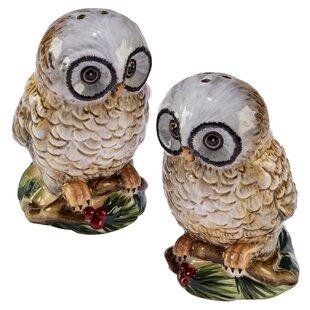Winter Lodge Owl 3D Salt & Pepper Shaker Set