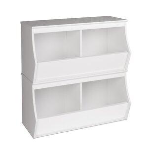 Leonor Stacked 4 Bin Storage Cubby