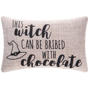 This Witch Can Be Bribed Halloween Lumbar Pillow