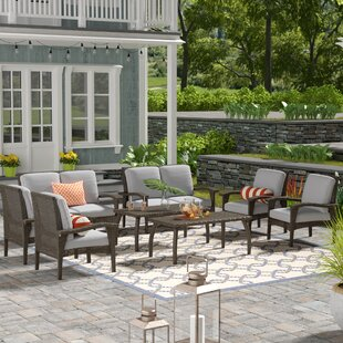 Weatherby 8 Piece Rattan Sofa Seating Group with Cushions By Brayden Studio