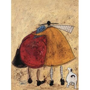 'Hugs on the Way Home' by Sam Toft Wall art on Canvas