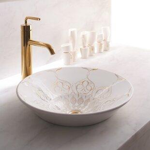 Caravan Ceramic Circular Vessel Bathroom Sink Kohler