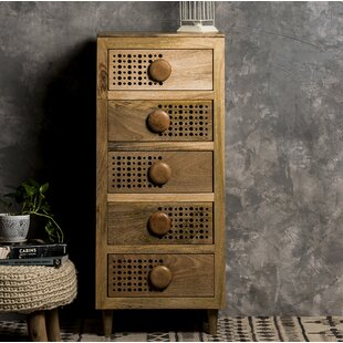 Kanoe-Chaoue 5 Drawer Chest By World Menagerie