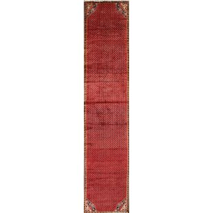 One-of-a-Kind Samantha Persian Hand-Knotted Wool Red/Burgundy Indoor/Outdoor Area Rug by World Menagerie