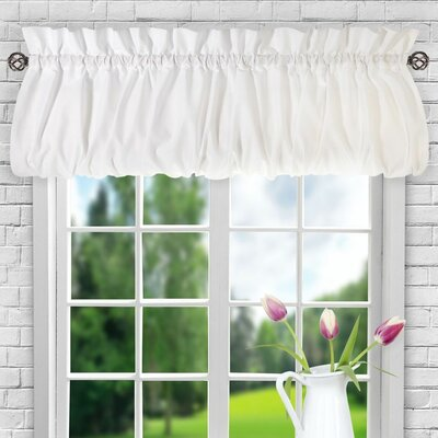 Ellis 60 Balloon Curtain Valance August Grove Color: White
