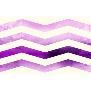 Ombre Chevron Purple/White Area Rug ByManual Woodworkers & Weavers