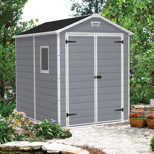 Manor 6 Ft. W X 7.5 Ft. D Plastic Storage Shed By Keter