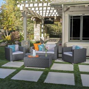 Mercury Row Ostro 4 Piece Sofa Set with Cushions