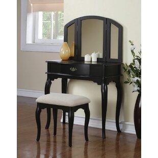 Estelle Vanity Set with Mirror by Infini Furnishings