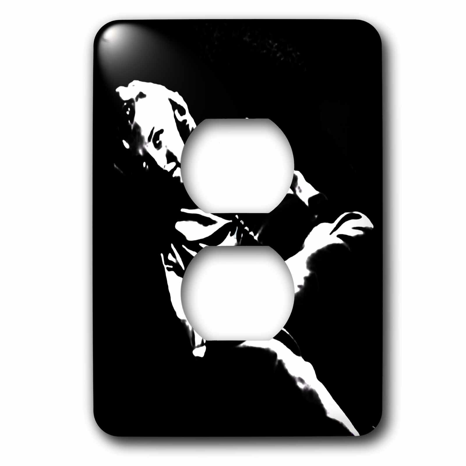 3drose Marilyn Monroe Marilyn Monroe Woman Silhouette Portrait Black And White Actress 1 Gang Duplex Outlet Wall Plate Wayfair