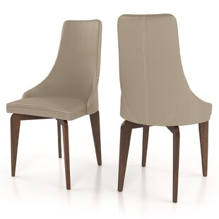 Hoyt Genuine Leather Upholstered Dining Chair (Set of 2)