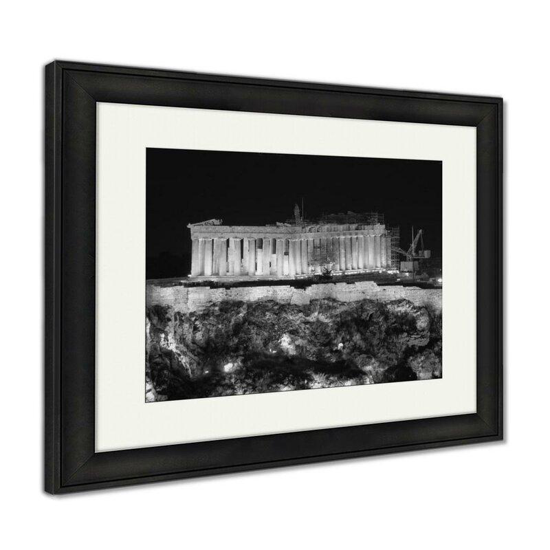 World Menagerie Parthenon On Acropolis Of Athens Greece Photographic Print In Black White Wayfair