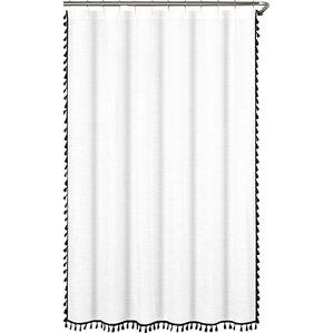 everardo 100 cotton tassel shower curtain