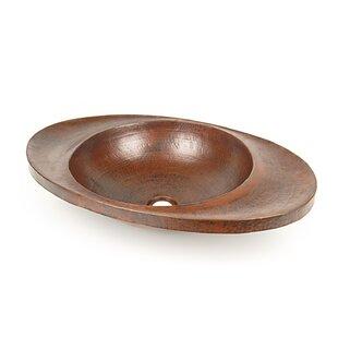 Best Deals Metal Oval Drop-In Bathroom Sink By D'Vontz