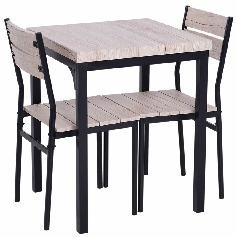 Staley Rustic Country 3 Piece Dining Set