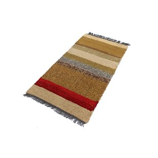 Gamelin Hand Hooked Wool Yellow/Brown Indoor/Outdoor Rug By Bloomsbury Market