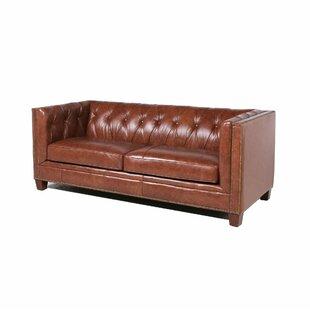 Bronwood Leather Chesterfield Sofa