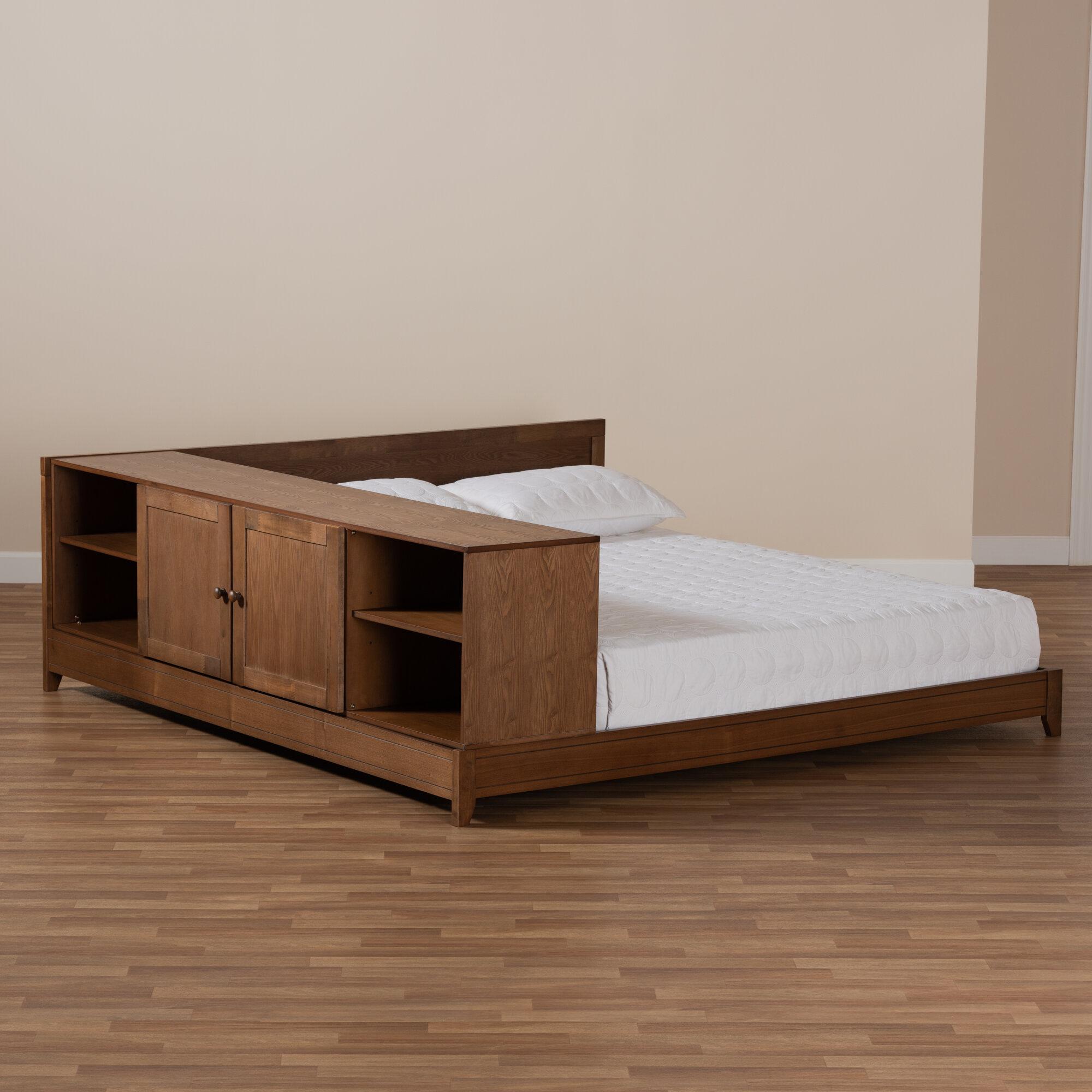 Union Rustic Evelin Queen Solid Wood Low Profile Platform Bed Wayfair