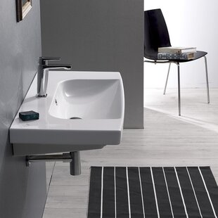 Roma Ceramic Rectangular Drop-In Bathroom Sink with Overflow
