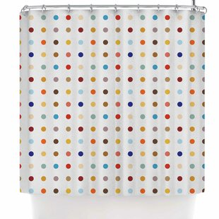 Find for Empire Ruhl Fall Dots Digital Shower Curtain ByEast Urban Home