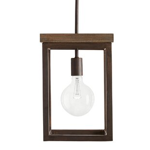 Boren 1-Light Square Pendant b..