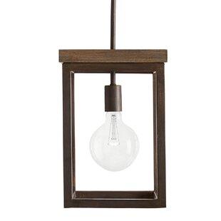 Boren 1-Light Square Pendant by Union Rustic