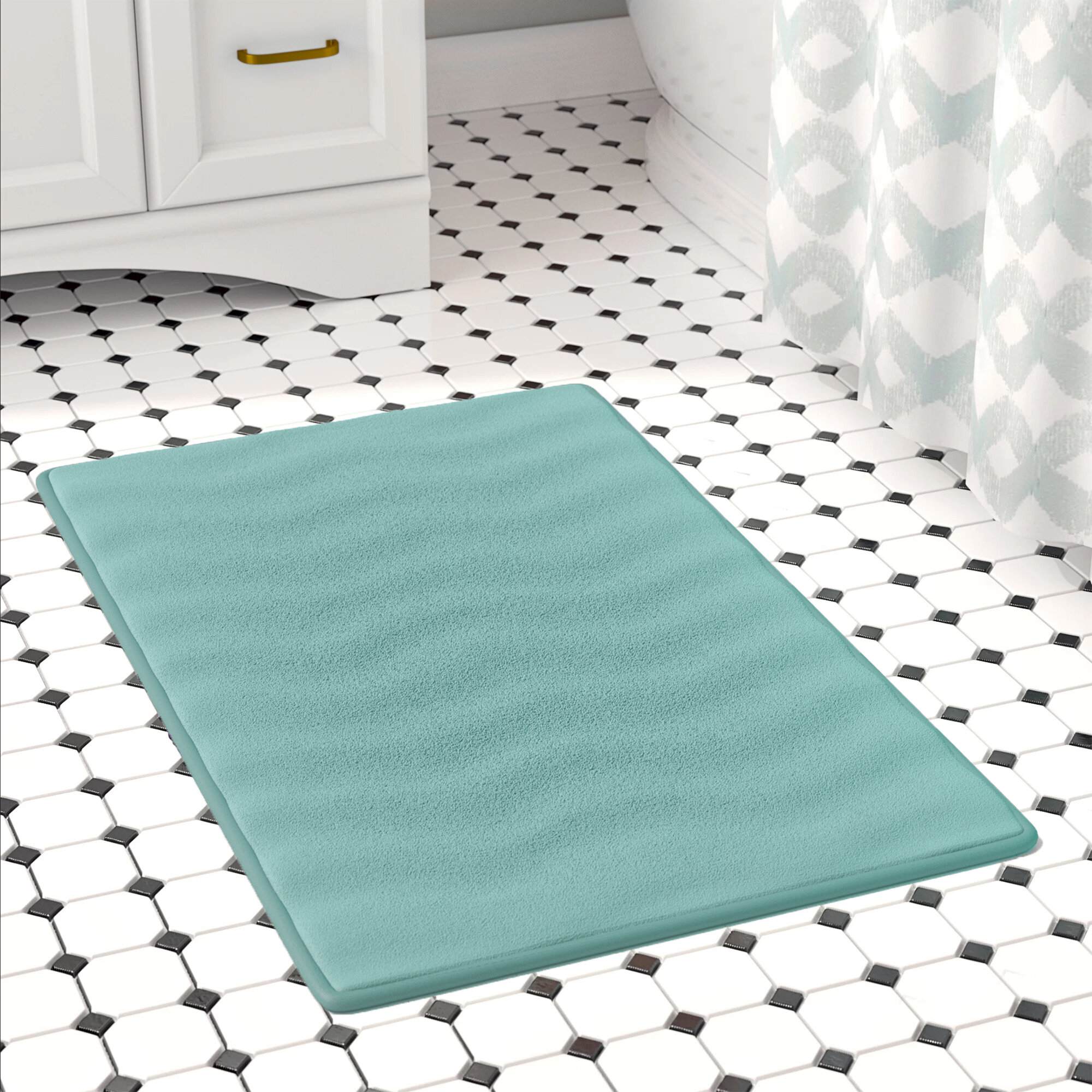 Ebern Designs Behnke Micro Plush Memory Foam Bath Mat Reviews