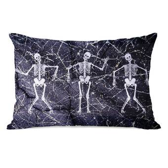 The Holiday Aisle Blondelle Black And White Spider Pattern Abstract Lumbar Pillow Wayfair