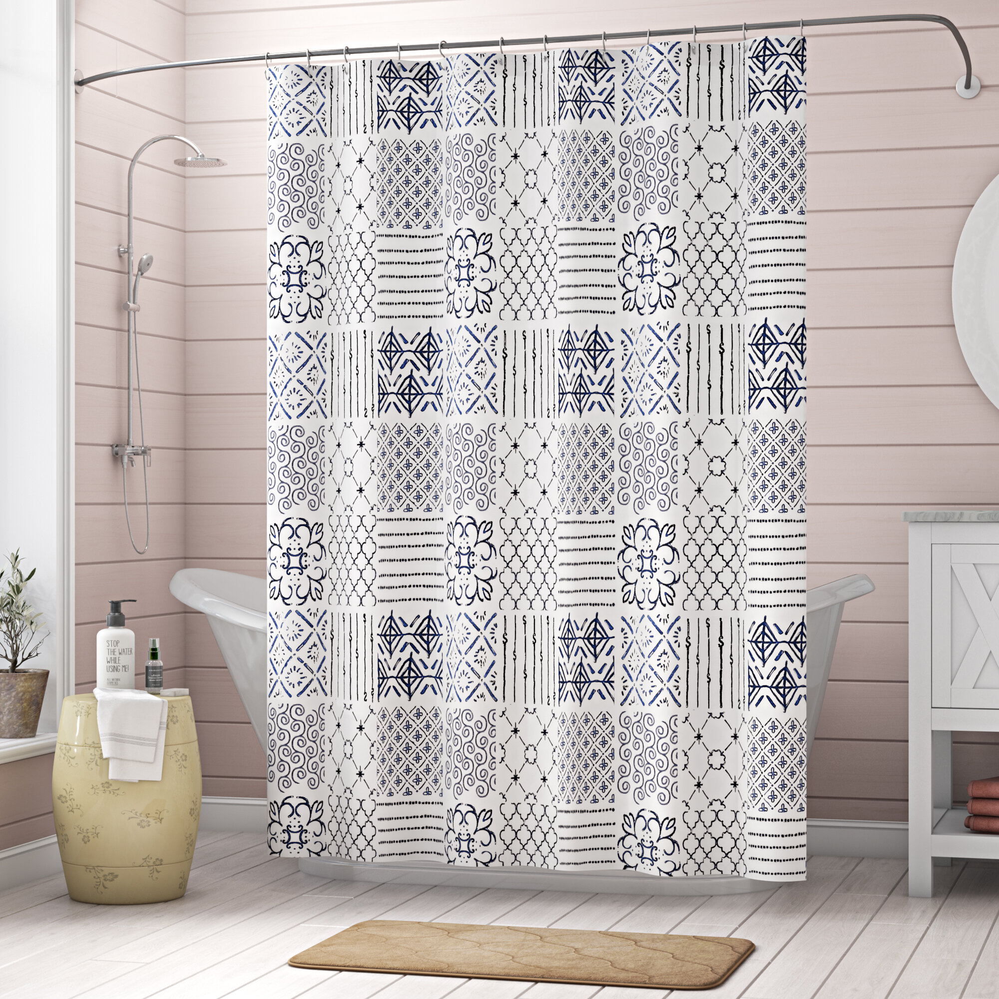 Laurel Foundry Modern Farmhouse Roseann Single Shower Curtain Reviews Wayfair Ca